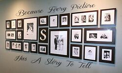 BECAUSE EVERY PICTURE HAS A STORY TO TELL Wall Decal Vinyl Decor Words Sticker $8.50