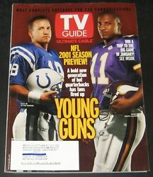 TV Guide September 2001-NFL Preview-Peyton ManningDaunte Culpepper cover