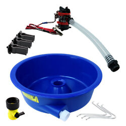 Blue Bowl Concentrator Kit with Pump Battery Clips Leg Levelers Gold Prospecting $128.95