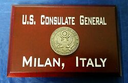 U.S. Consulate General Milan Italy Cherry Wood 4