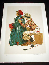 Norman Rockwell Original Lithograph Hand Signed