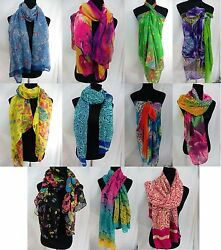 wholesale lot 12 trendy maxi long fashion scarves sarong wrap $51.99