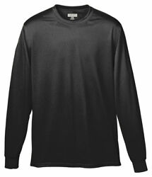 Augusta Sportswear Men#x27;s Moisture Wicking Long Sleeve Polyester Basic Tee. 788 $13.17