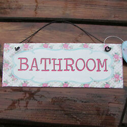 METAL BEDROOMTHE LOOBATHROOMTOILET FLORAL LACE PLAQUE SIGN WALL HANGING CHIC GBP 2.99