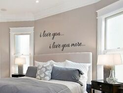I LOVE YOU I LOVE YOU MORE Vinyl Wall Art Decal Words Lettering Decor Home $8.95