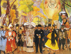 Dream of a Sunday Afternoon...by Diego Rivera Paper Print Repro $24.99