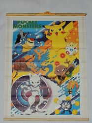 NEW POKEMON POCKET MONSTERS BAMBOO WALL SCROLL 16quot; X 12quot; #4 1 $8.99