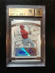 2009 Bowman Sterling Prospects Mike Trout  AUTO BGS 10 RC SUPER RARE $$$ HISTORY