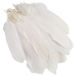 50pcs White Beautiful Large Goose Feathers 6-8 inches 15cm to 20cm High Quality