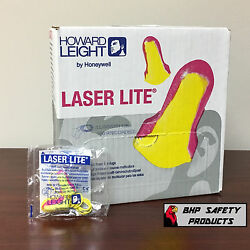 HOWARD LEIGHT LASER LITE LL-30 DISPOSABLE FOAM EAR PLUGS CORDED 100 PAIRBOX