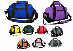 Two Tone Duffle Duffel Bag Bags Travel Sport Gym Carry On Luggage Weekender 14quot; $5.98