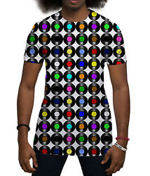 Vinyl Records Retro Music All Over Print Fashion Holiday Summer Mens T Shirt
