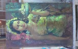 Authentic unknown-artist oil-painting