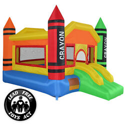 Mini Crayon Bounce House Slide Jump Bouncer Inflatable with Blower $239.99