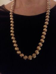 14K Yellow Gold Bead Necklace 24.75