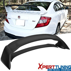Mugen Style Unpainted ABS Plastic Trunk Spoiler For 12-15 Honda Civic 4Dr