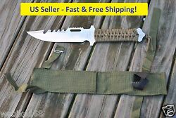 10.75quot; Pocket Knife Blade Rescue Combat Camping Hiking Fishing Hunting Survival $7.58