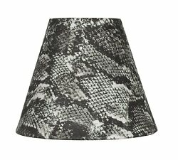 Urbanest Snakeskin Fabric Mini Chandelier Lamp Shade 6 inch Hardback Clip On $7.99