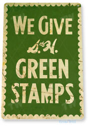 TIN SIGN S amp; H Green Stamps Rustic Metal Décor Art Kitchen Store Shop A978 $9.25