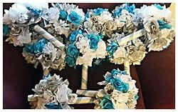 10 pc Bouquets for Wedding Party or Centerpieces