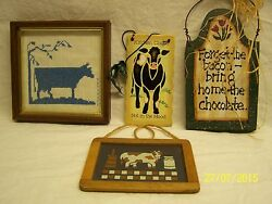 Small Lot of Decorative Kitchen Wall Plaques $10.00