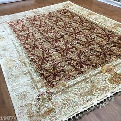 New 8.5'x11.8' Original Red Living Room Decorative Carpet Handmade Silk Rug
