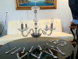2 Crystal Chandeliers $160.00