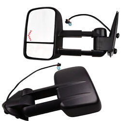 03-06 Silverado Tahoe Pickup Towing Mirrors Set Tow Power Heated LED Signal Pair