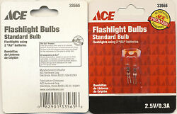 2 pack Replacement Standard Bulb Flashlight Bulbs for Flashlights using 2 quot;AAquot; $2.75