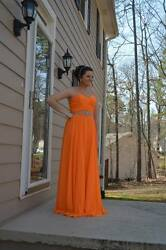 Size 10 Orange Prom Dress