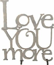 NEW Grey Wood Word Art Sign quot;LOVE YOU MOREquot; Stand Plaque Home Valentines Day $25.99