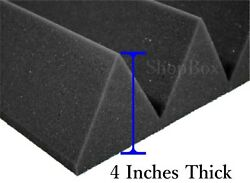 12 Pack(12x12x4)Inch Wedge Acoustic Foam Panel Soundproofing Studio WallCeiling