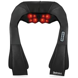Shiatsu Kneading Neck & Back Massager with Heat - Perfect for CarOfficeChair $37.59