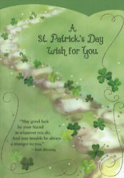 Stone Wall on Hill Designer Greetings St. Patrick#x27;s Day Card $3.49