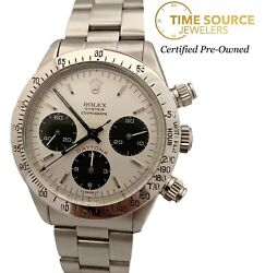 Vintage Rolex Daytona Red 6265 Chrono Stainless White Dial Circa 1979 Watch