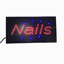 NAILS Sign Nails LED Sign Manicure Business Sign Nails LED Light Box Window Sign $22.91