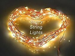 Starry LED String Lights Patio on Copper Wire - 100 White LED 33 Feet Long - Wat