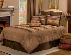 Great Moose Lodge Rustic Comforter Sets  Bedding for Lodge Cabin or Home