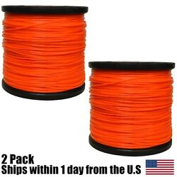 2 5lb 095 Star Orange Commercial String Trimmer Line Fits Echo Crossfire Shape