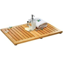 Bamboo Floor and Shower Mat with Non Slip Bottom amp; Mold Resistant Free Shipping $28.49
