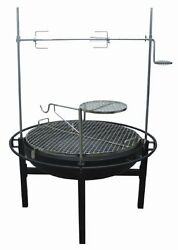 Rancher Fire Pit Charcoal Grill with Rotisserie 31-Inch New Free Shipping