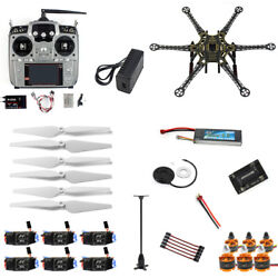 Full Set RC Drone 6axis Aircraft Kit HMF S550 Frame 6M GPS APM 2.8 AT10 F08618 Q $368.88