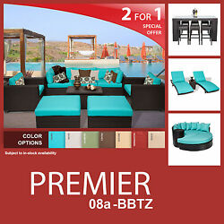 Premier 20 Piece Outdoor Wicker Patio Furniture Package PREMIER-08a-BBTZ 2 for 1