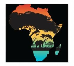 Africa Color - Vinyl Sticker Decal - SELECT SIZE