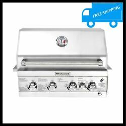 Built In Grill Propane Island 4 Burner Stainless Rotisserie Outdoor Kitchen NEW