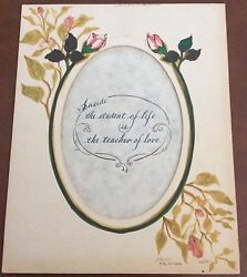 Vintage Hand Painted Art Mat By Ross $25.00