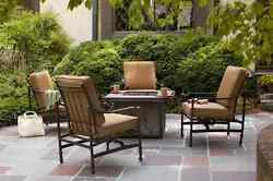 2-Pack Outdoor Patio Lounge Chair Cushion Replacement Brown Niles Park Pillow