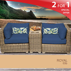 Royal 3 Piece Outdoor Wicker Patio Furniture Set 03b 2 for 1