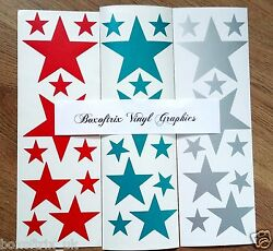 3 Sets Of Stars Vinyl Wall Art Stickers Kids Bedroom Decals 7 colours GBP 4.50