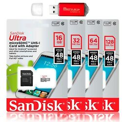SanDisk 128GB 64GB Ultra Micro SD Class 10 TF SDXC Memory Card mobile Cellphone $25.49